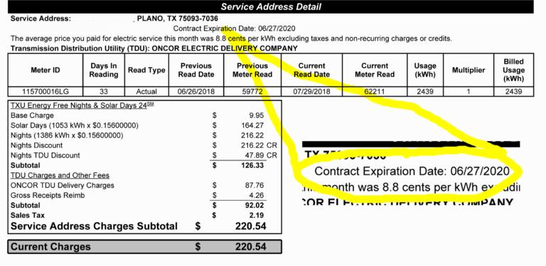Texas Electricity Contract